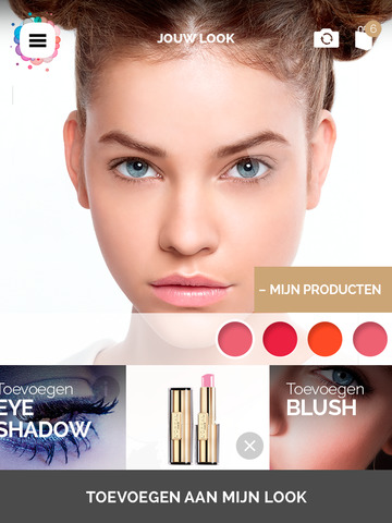 makeup genius screenshot app